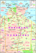 Northern Territory, Australia -  Travel - Holidays - Tourism,  with Australian Travel Wholesalers map