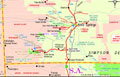 Kings Canyon - Travel - Holidays - Vacations - Tourism - Tours map